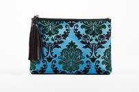MARY KATRANTZOU Blue Green Multi-Color Clutch