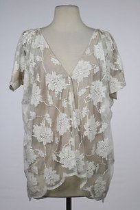 Mason Womens Floral Top Ivory