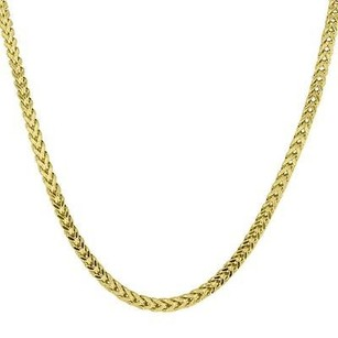 Master Of Bling 10k Yellow Gold Necklace Franco Box Cuban Link Chain Mm Mens 36 In