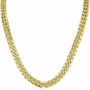 Master Of Bling 10k Yellow Gold Necklace Inch Mens Miami Cuban Link Chain High End