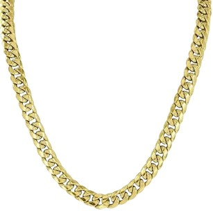 10k Yellow Gold Necklace Miami Cuban Link Inch Chain Mm