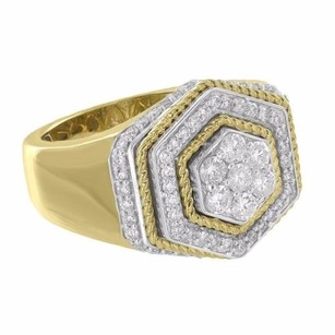 Master Of Bling 10k Yellow Gold Ring Genuine Diamonds Round Cut 1.25 Carat Mens Custom Style