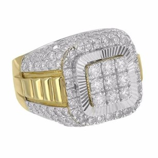 Master Of Bling 10k Yellow Gold Ring Mens Round Cut Diamonds Carat Presidential Style Look
