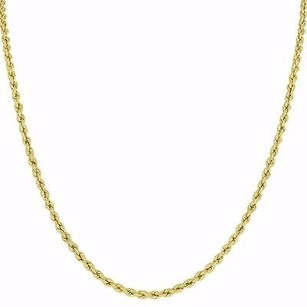 Master Of Bling 10k Yellow Gold Rope Necklace Chain Mens Ladies Inch Classy Mm