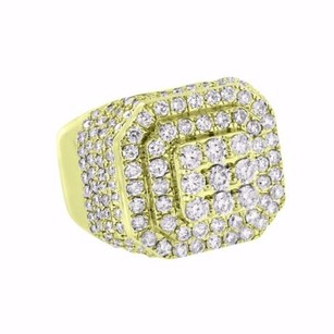 Master Of Bling 14k Gold Mens Ring Iced Out 3.54 Ct Diamonds Statement Pinky Custom Design