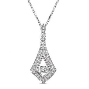 Master Of Bling Glittering Star Diamond Pendant 14k White Gold Womens Necklace 1.2 Inch