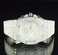 Master Of Bling Mens Master Of Bling Watch Jojino Joe Rodeo White Simulated Diamond 47mm Ap-03