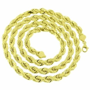 Master Of Bling Solid Rope Chain 7mm 10k Yellow Gold Inches Mens Lobster Lock Custom Style