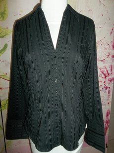Maurices Longsleeve Striped Button Down Shirt Black