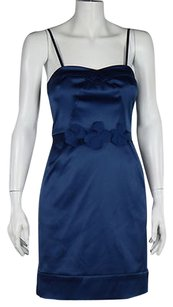 Max and Cleo Womens Metallic Formal Party Sheath Above Knee Dress