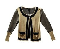 Max Mara Weekend Tan Black Sweater