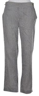 Max Mara Womens Black White Pants