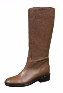 Max Mara Brown Pebble Leather Browns Boots