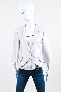 Max Mara Max Mara Pale Lilac Cotton Silk Woven Twill Single Button Blazer Jacket