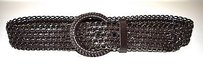 Max Mara Maxmara Brown Woven Metal And Genuine Leather Belt 180455mm