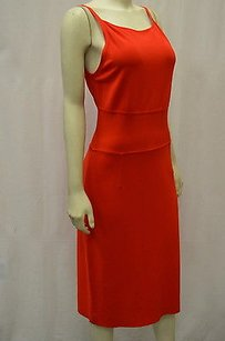 Max Mara Damasco Red Zip Back Sleeveless Stretch Knit 120805mm Dress