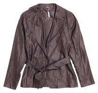 Max Mara Virgin Wool Belted Brown Jacket