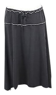Max Studio Womens Xsmall Knee Length Polyester Career Casu Skirt Black