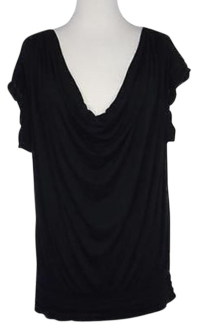 free shipping Max Studio Womens Black Solid Knit Top Shirt Tank