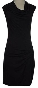 Max Studio Womens Solid Sleeveless Rayon Blend Above Knee Dress