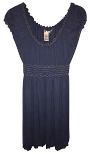 Max Studio short dress Blue Shirred on Tradesy