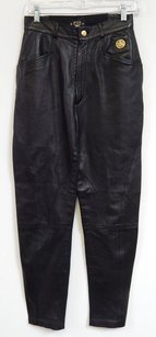 MCM Italy Vintage Nappa Leather Stretch Pants