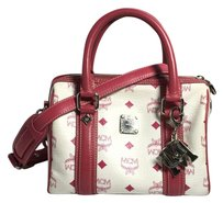 MCM Speedy Crossbody Satchel in Pink