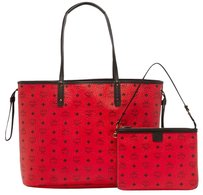 MCM Tote in ruby red