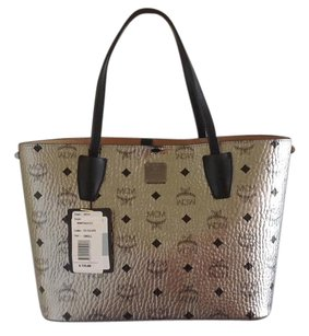 MCM Tote in Silver