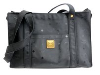 MCM Visetos Black Shoulder Bag