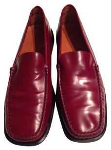 Men's Tod's Padded Sole Leather Bottom Leather Burnished Red Flats