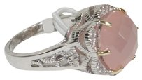 Meredith Leigh Meredith Leigh 14k Gold and 925 Sterling Silver Rose Agate Ring