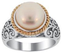 Meredith Leigh NEW! Meredith Leigh 14k Gold and 925 Sterling Silver FW Pearl Ring