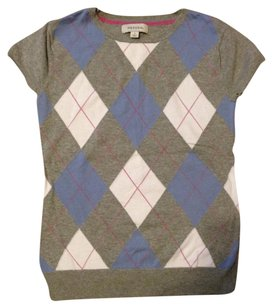 Merona Argyle Cotton Stretchy Preppy Classic Sweater