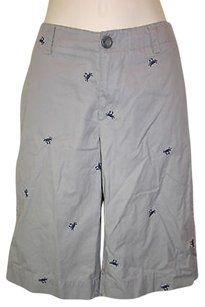 Merona Embroidered Crabs Shorts Gray