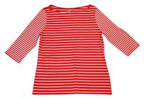 Merona Striped Stretchy T Shirt Red / White