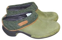 Merrell Olive green Mules
