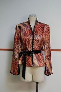 Mesmerize Orange And Brown Multi-Color Jacket
