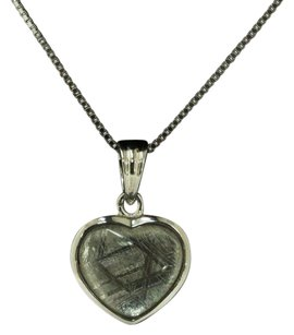 Meteorite Sterling Silver Meteorite heart necklace