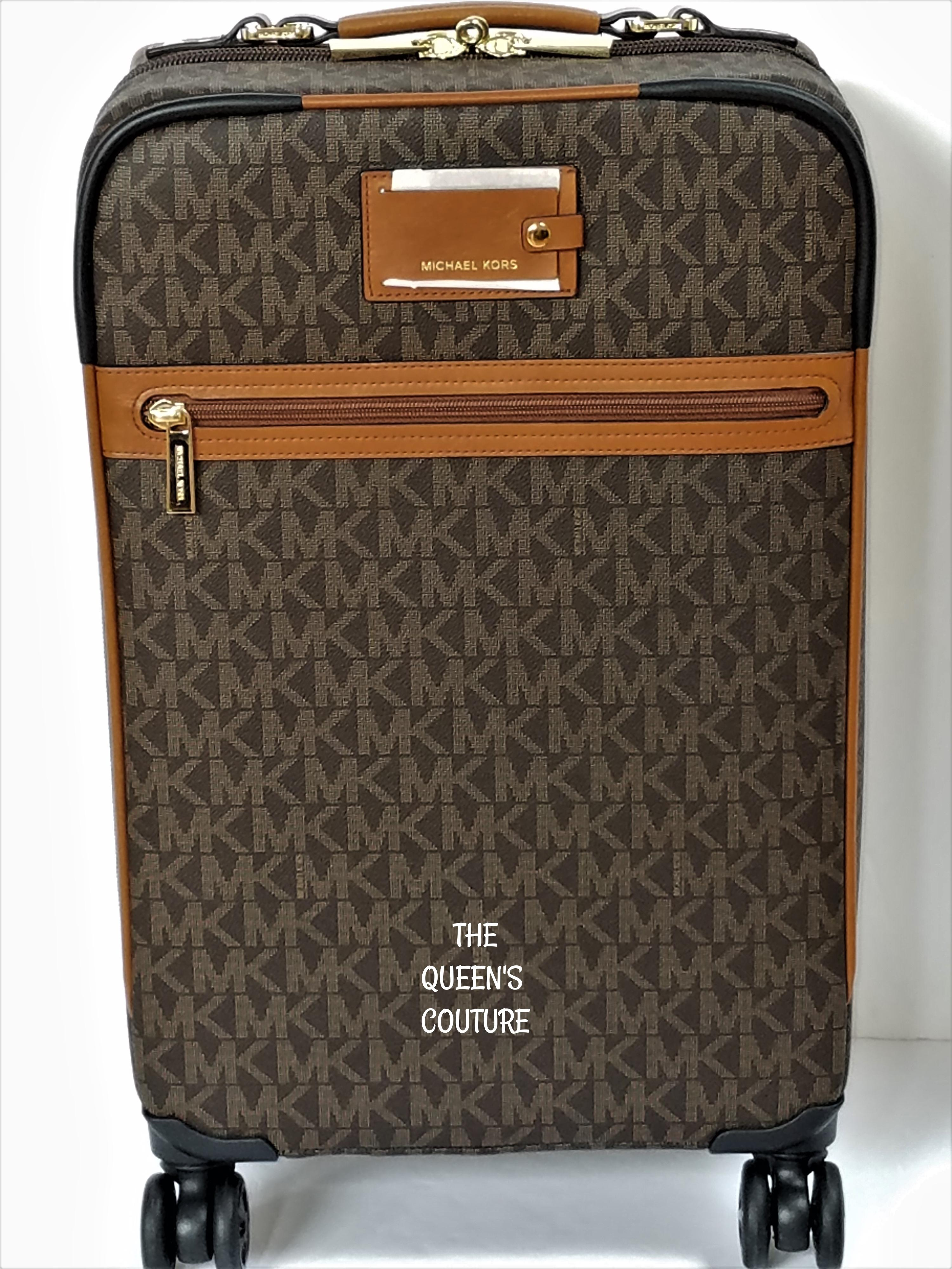 bf4556128187 ... canada michael kors trolley rolling carry on suitcase jet set trolley  brown travel bag d905e 62722 ...