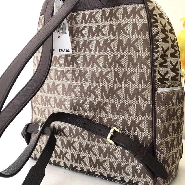 bbb58e0a3205 ... new style michael kors abbey jet monogram java brown leather backpack  tradesy 3f057 e43c4