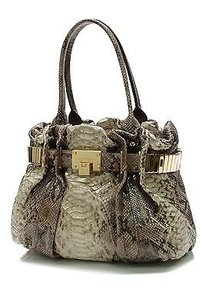 Michael Kors Python Tote in Olive/khaki green