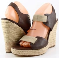 Michael Kors Wedges Brown Platforms
