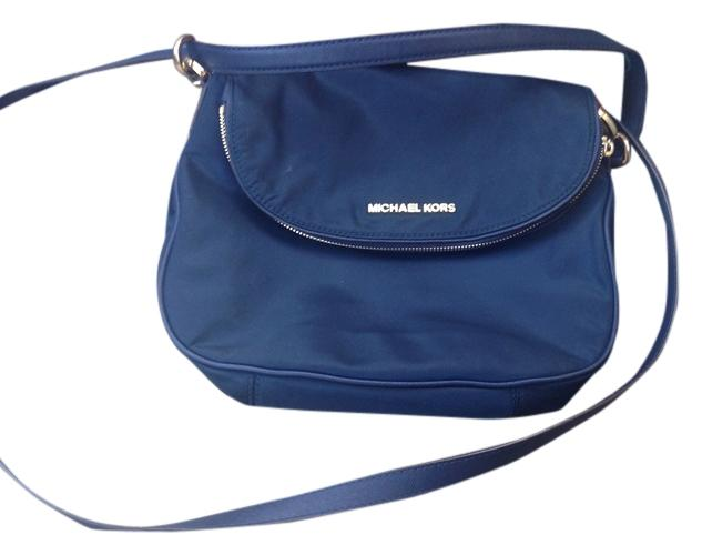 84c3a562ee2f Michael Kors Bedford Medium Nylon Dark Blue Cross Body Bag delicate .