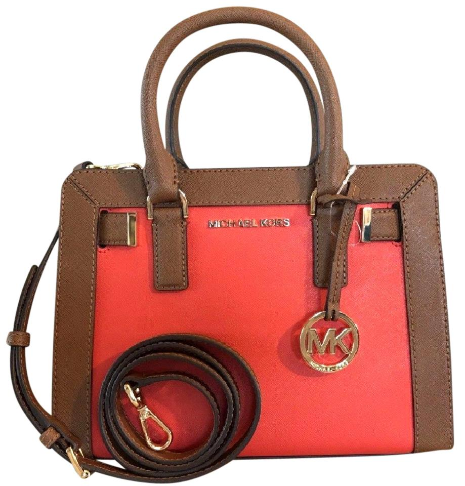 9ed597e794a4 3f2cb 8ac36  ireland michael kors dillon small monogram brown crossbody  strap satchel in sienna red luggage 384fc db66d