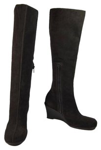 Michael Kors Tall Wedge Cocoa Brown Boots