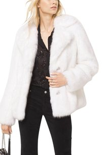 Michael Kors Faux Fur Pea Cold Weather Pea Coat