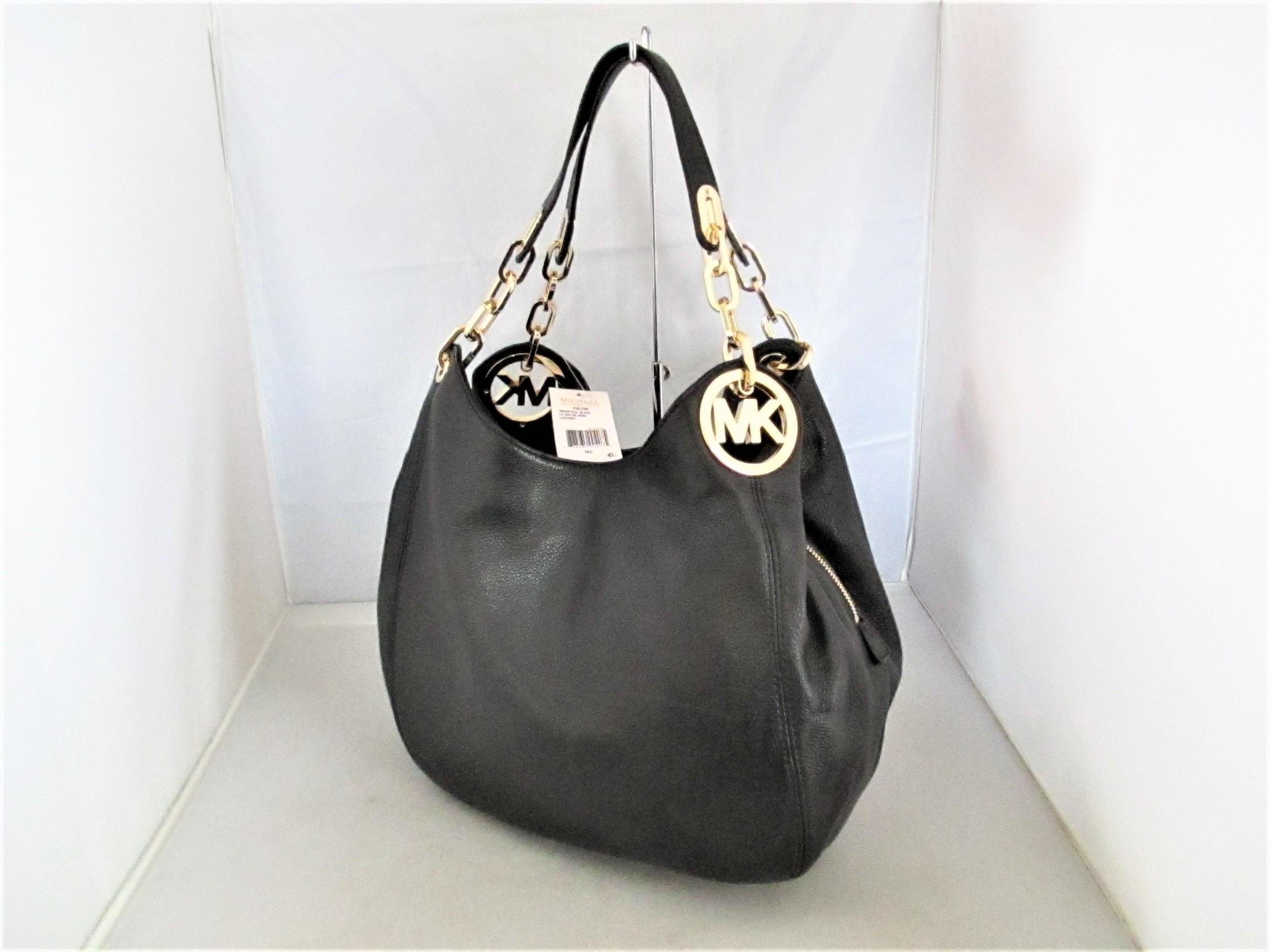 ... get michael kors fulton large tote hobo satchel black leather shoulder  bag tradesy 92a62 c2f15 7feb395aa3636