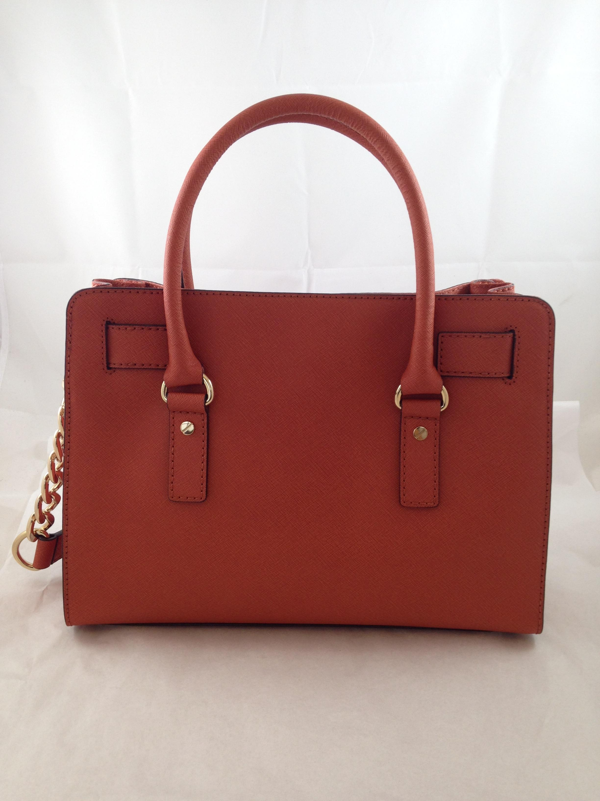 8f016ae4929a ... sale michael kors hamilton east west honey redish rust leather satchel  tradesy 52b8c fd610