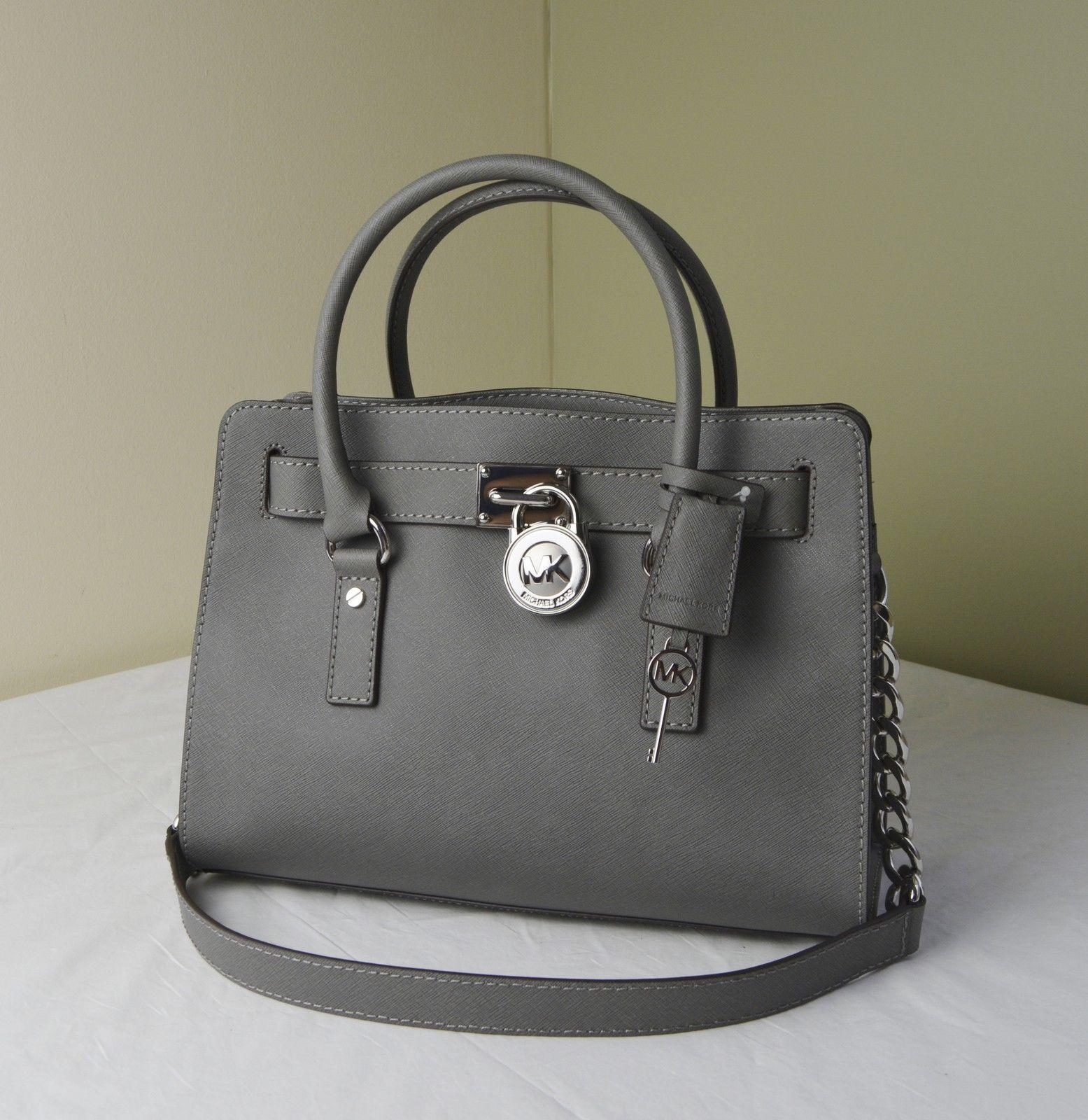 a6fe2b989d71 coupon code for mk hamilton satchel in steel graysilver. 123456 like new mk  red orange